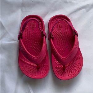 Crocs girls sandal pink baby 7 Iconic Comfort